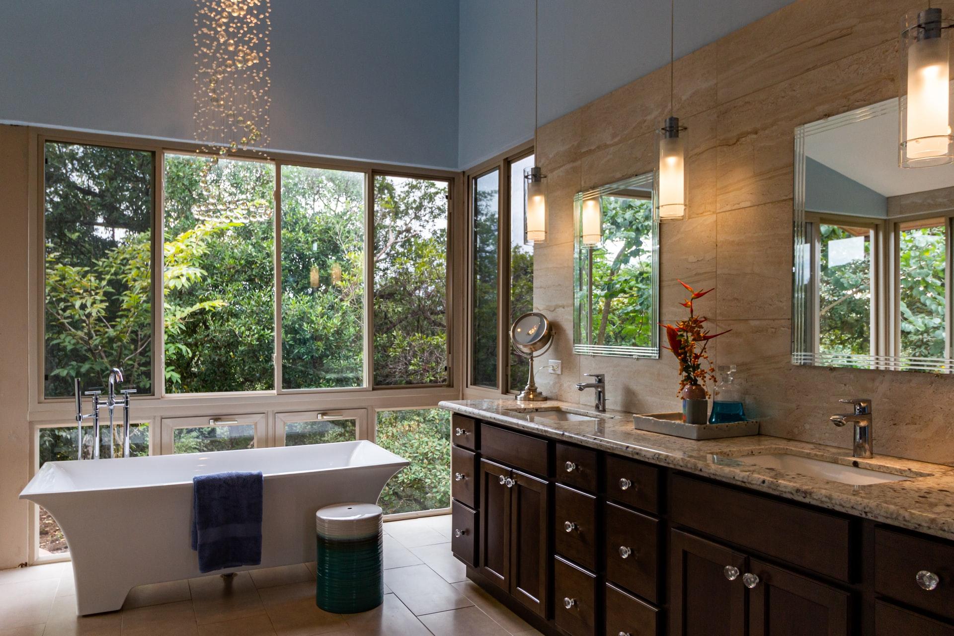 Casa de banho rústica