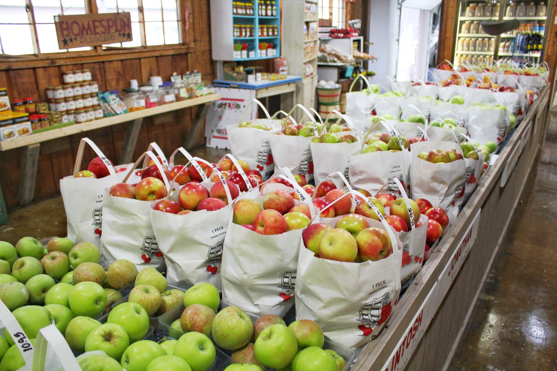 Frutas no supermercado